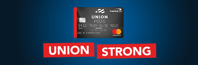 Screenshot of a Union Plus credit card