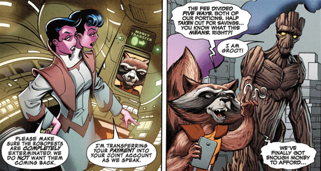 Slides from Guardians of the Galaxy: Rocket's Powerful Plan