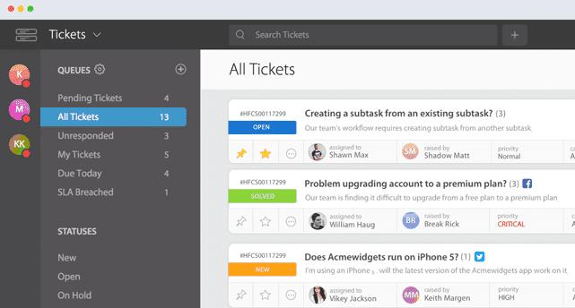 Screenshot of the HappyFox Help Desk Software