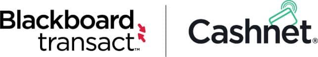 Logos for Blackboard Transact and Cashnet