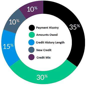 Graphic of FICO Score Components