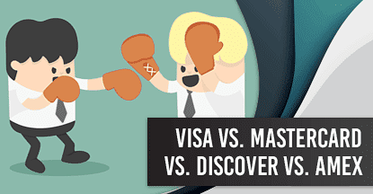 The 4 Major Networks: Visa vs. Mastercard vs. Discover vs. Amex