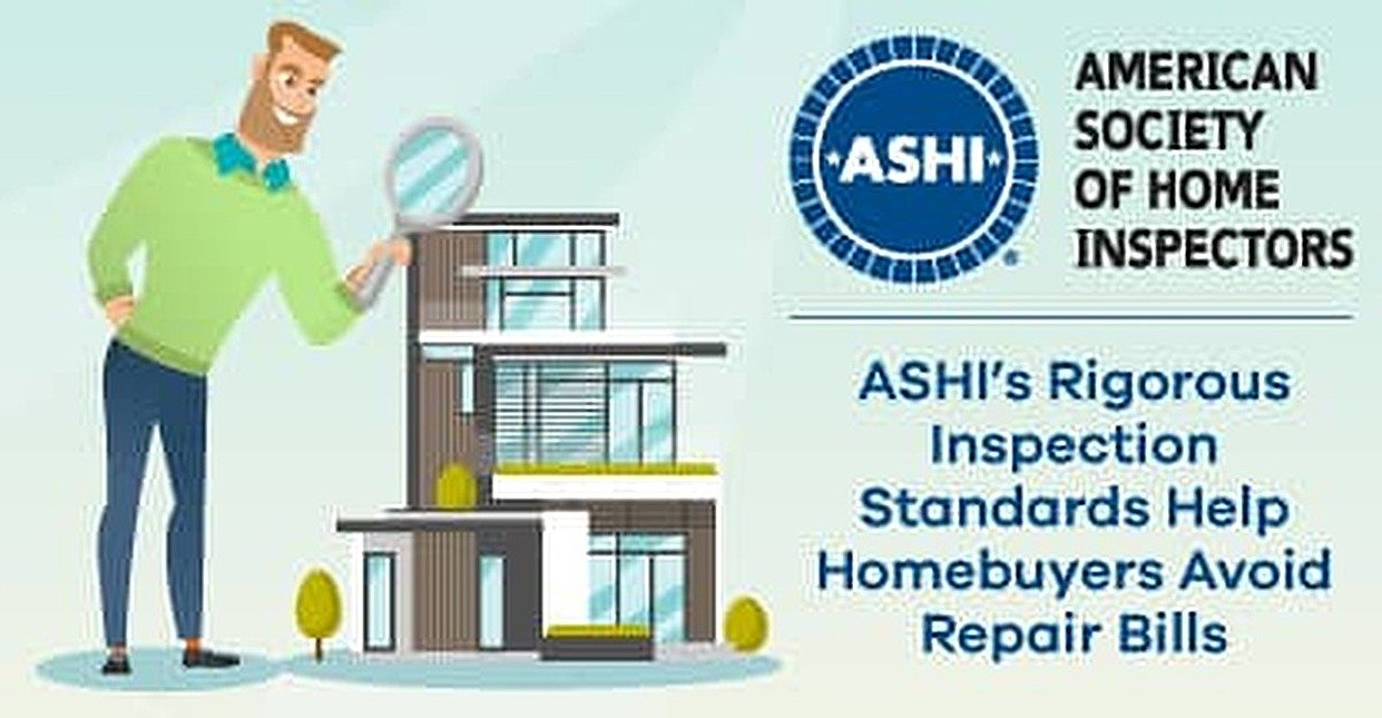 ASHI's Certified Home Inspectors Help Homebuyers Avoid Costly Repairs After Closing with Rigorous Standards of Practice