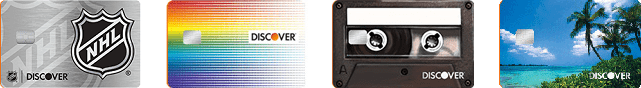 Collage of Discover Card Designs