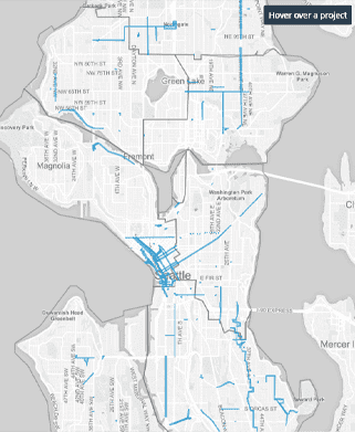 A Screenshot of the City of Seattle's Capital Projects Manager