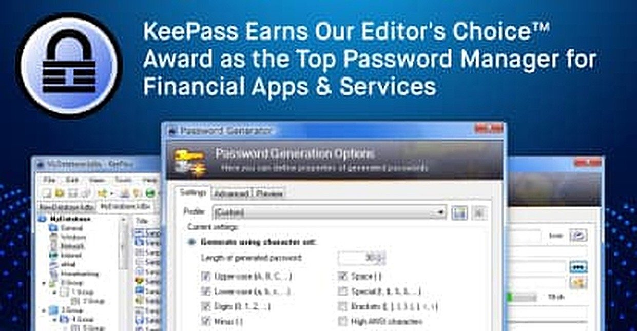 KeePass Earns Our Editor's Choice™ Award as the Top Password Manager for Financial Apps & Services