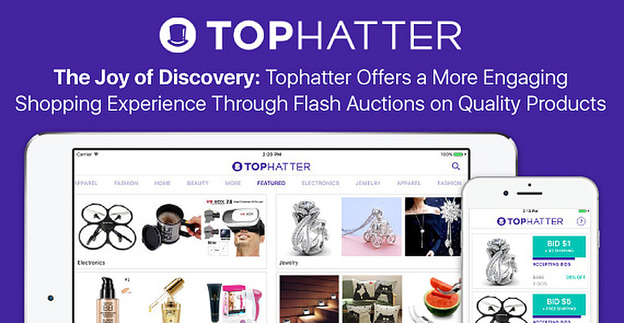 The Joy Of Discovery Tophatter Offers A More Engaging Shopping Experience Through Flash Auctions On Quality Products Cardrates Com
