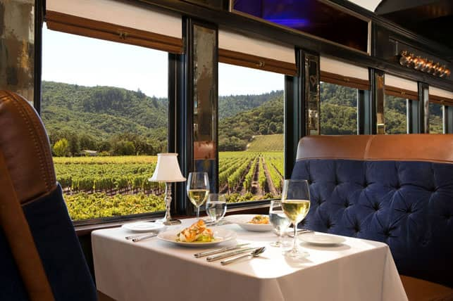 Photo of a Napa Valley Wine Train Car