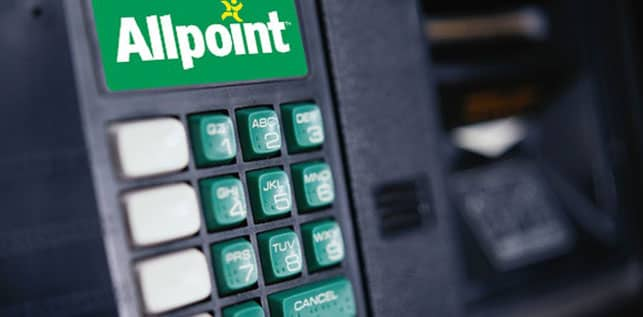 Allpoint Logo on an ATM Terminal