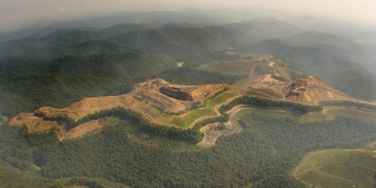 Photo of mountaintop removal coal mining