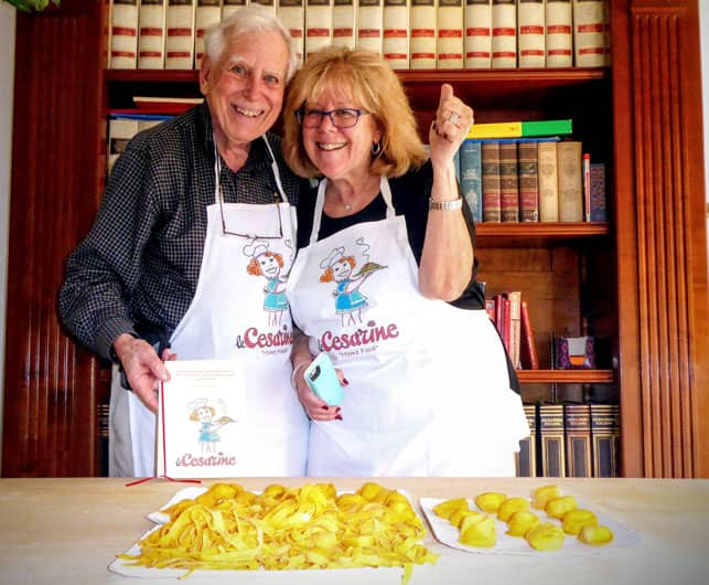A Photo of Irene Levine and Her Husband Jerry in Emilia-Romagna Italy
