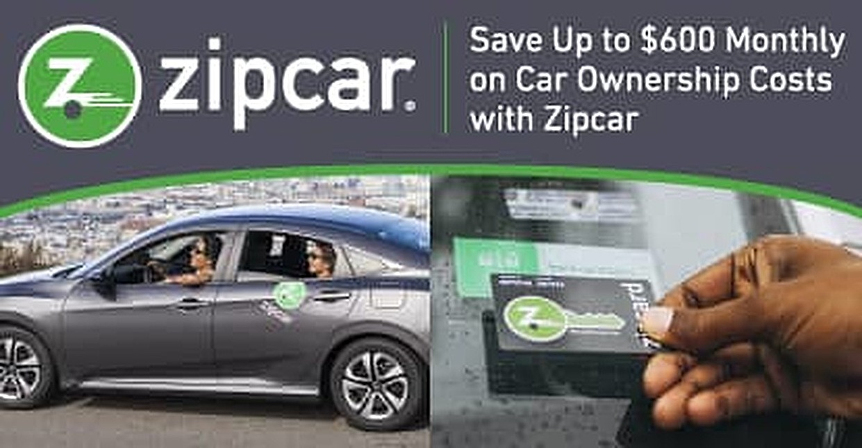 Save Up to $600 Monthly on the Costs of Car Ownership with Zipcar — The World's Largest Car Sharing Service