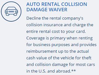Screenshot of Ink Business Preferred℠ Credit Card Benefits -- Car Rental Insurance