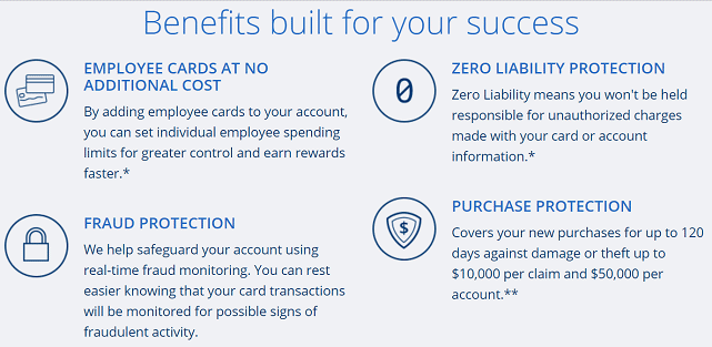 Screenshot of Ink Business Cash Credit Card Benefits