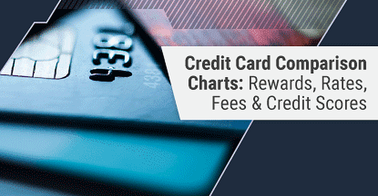 4 Credit Card Comparison Charts For Rewards Fees Rates Scores