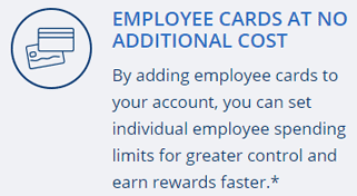 Screenshot of Ink Business Preferred℠ Benefits -- Employee Cards