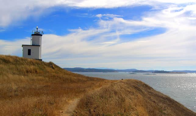 A Photo of Cattle Point Lighthouse in the San Juan Islands