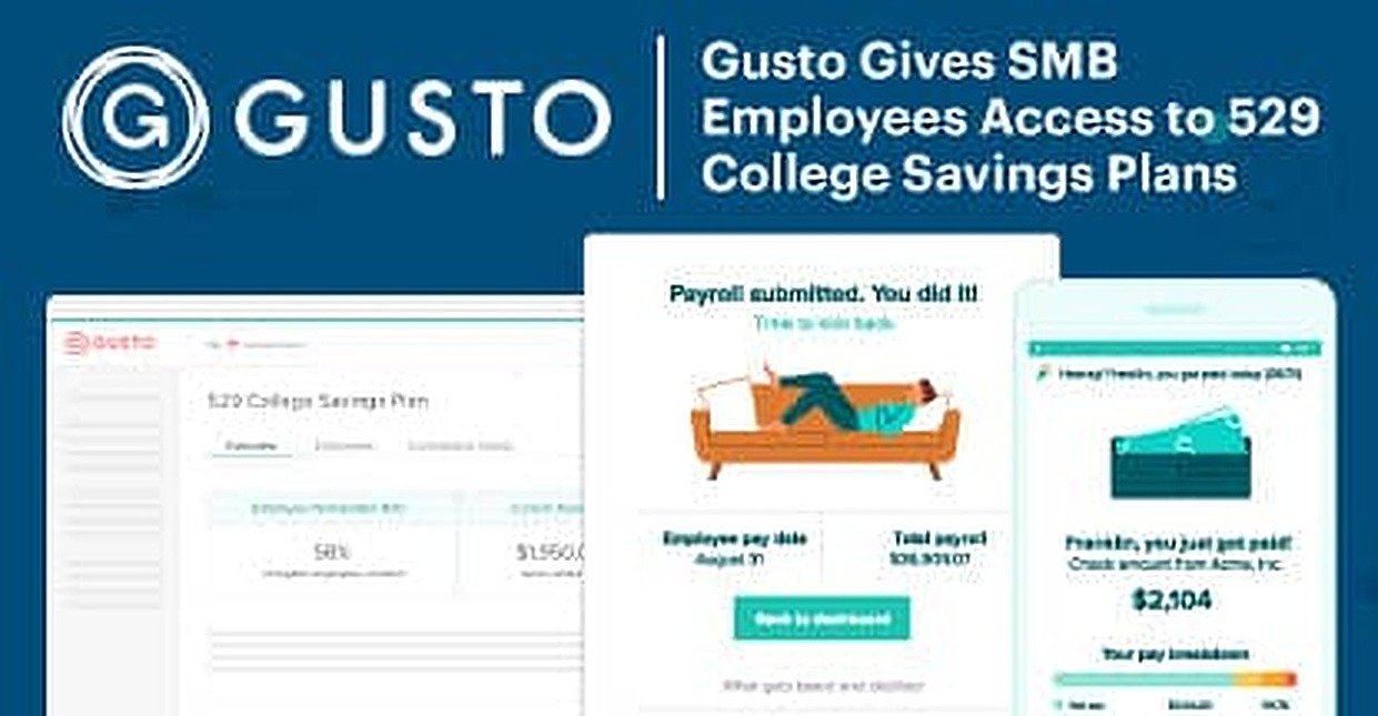 Gusto Gives SMB Employees Access to Big-Business Benefits, Including a New 529 College Savings Plan Option