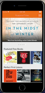 A Screenshot of the Audiobooks.com Mobile Application