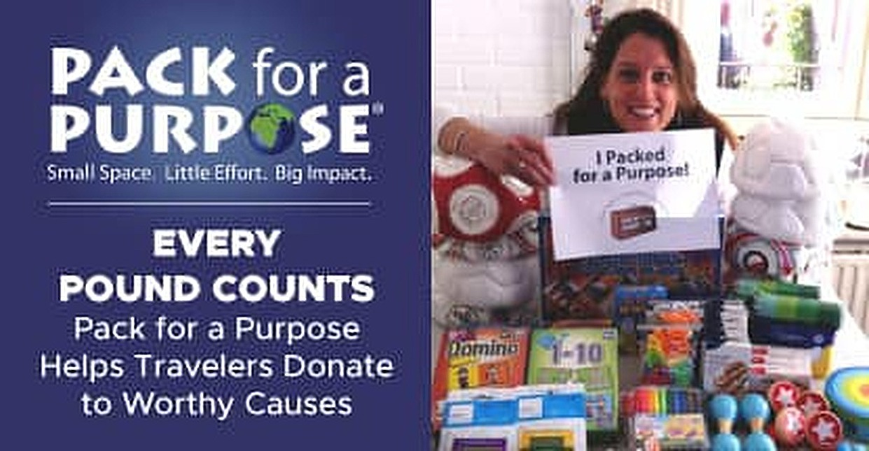 Every Pound Counts — Pack for a Purpose Helps Travelers Donate to Worthy Causes