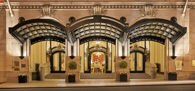 Photo of the outside of the Palace Hotel