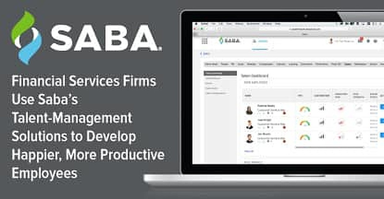 Financial Services Firms Use Saba's Talent-Management Solutions to Develop Happier, More Productive Employees