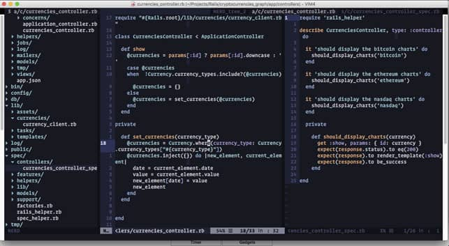 A Vim Screenshot