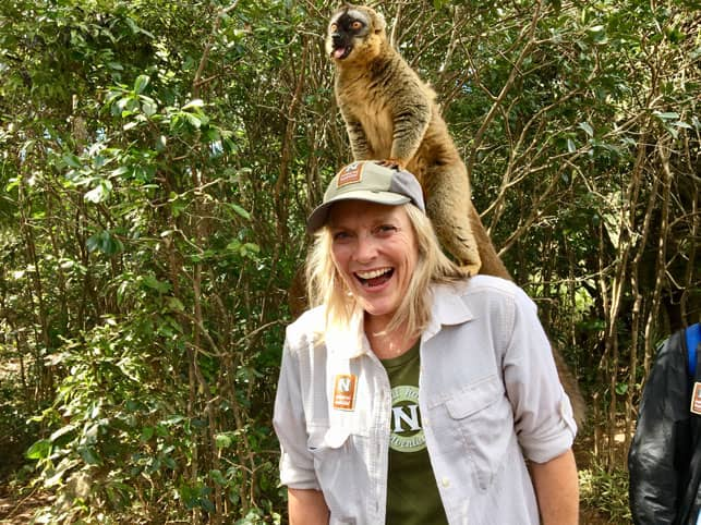 Photo of Natural Habitat Adventures Editorial Director Wendy Redal in Madagascar
