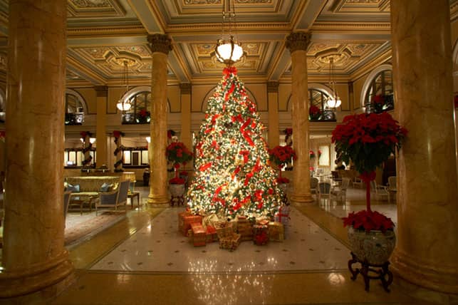 A Photo of the Willard InterContinental's Lobby at Christmas Time