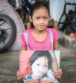 Image of a child in the Philippines helped by Smile Train