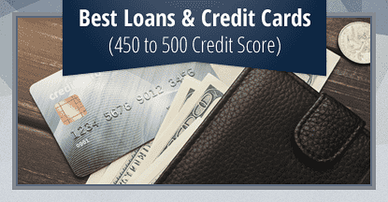 8 best loans credit cards for a 450 to 500 credit score - Get A Loan Put On A Prepaid Card