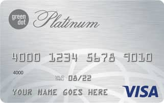 A Photo of the Green Dot® Platinum Visa® Card