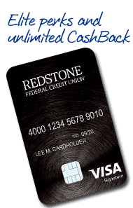A Photo of Redstone Credit Union's Visa Signature Credit Card