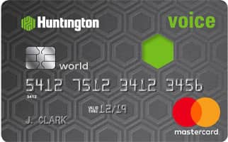 A Photo of the Huntington Bank Voice Credit Card