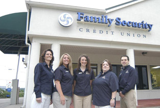 Photo of Family Security Credit Union employees at a branch