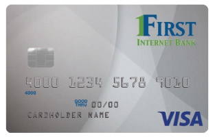 Photo of a First Internet Bank credit card