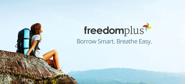 Screenshot of a FreedomPlus advertisement
