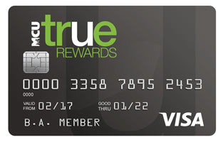 Photo of NY MCU's TRUE Rewards Visa Card