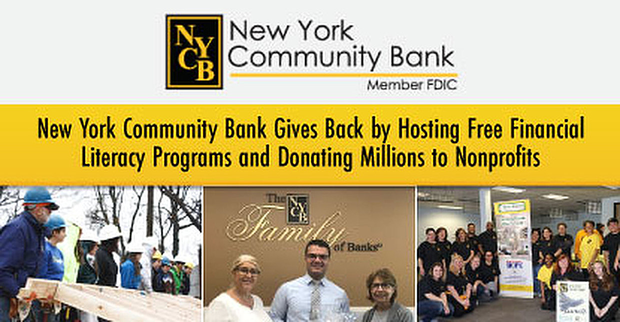 New York Community Bank Gives Back by Hosting Free Financial Literacy Programs and Donating Millions to Nonprofits