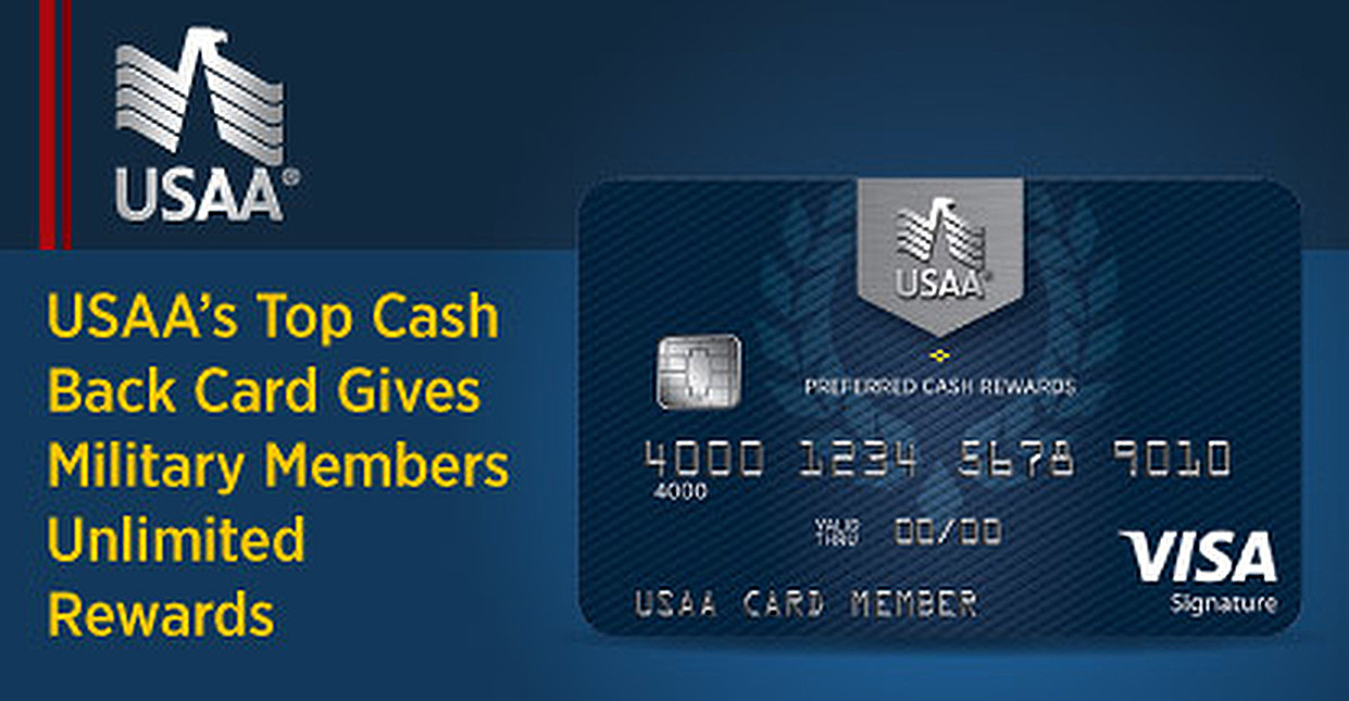 Top Unlimited Cash Back Option for Military Members — USAA's Preferred Cash Rewards Visa Signature® Card Offers Competitive Rewards & Low Fees