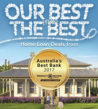Screenshot of Auswide's best bank award