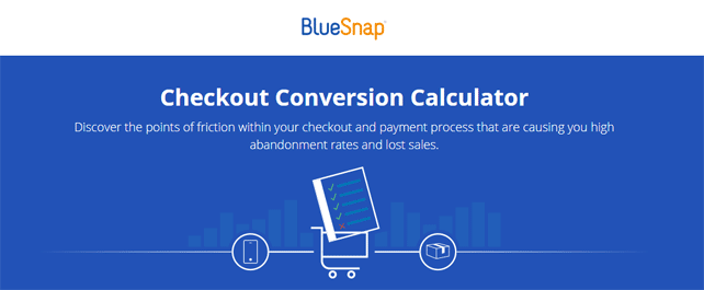 Screenshot of the BlueSnap conversion calculator