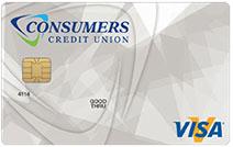 Photo of the Consumers Credit Union Visa Platinum