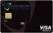Photo of the Consumers Credit Union Visa Signature Rewards