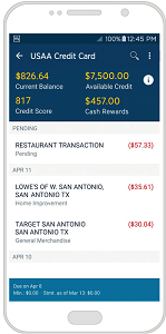 Screenshot of USAA Mobile App