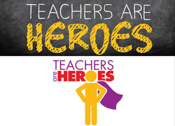MECU Teachers Are Heroes logo
