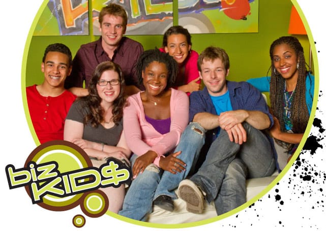 Screenshot of Biz Kids graphic