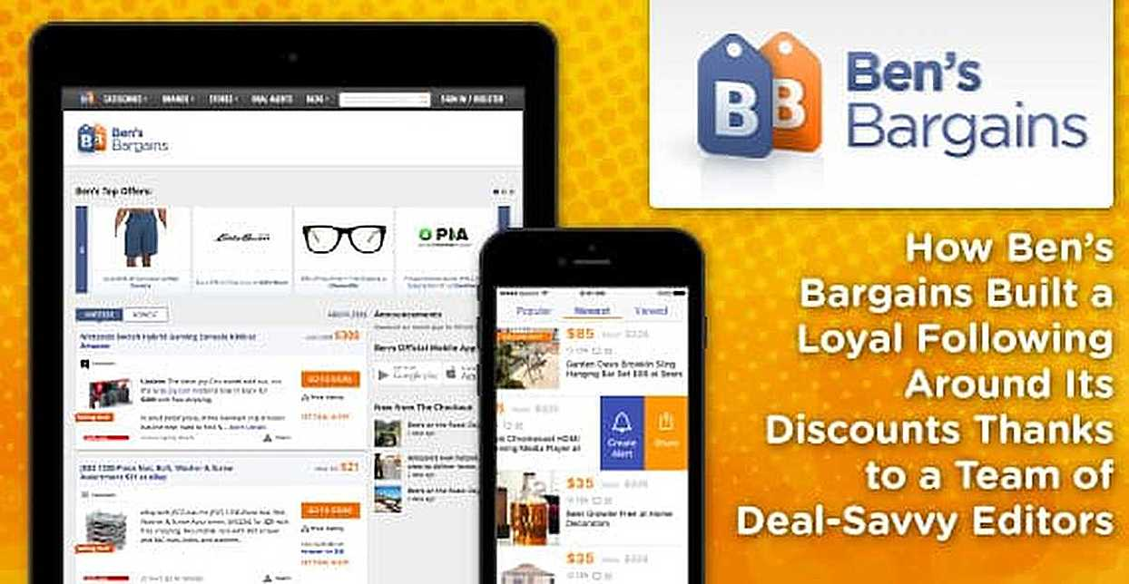 How Ben's Bargains Built a Loyal Following Around Its Discounts Thanks to a Team of Deal-Savvy Editors