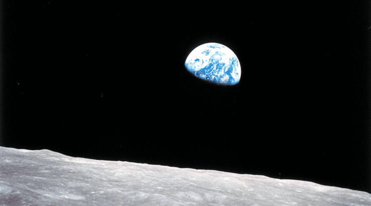 Earthrise photo taken by an astronaut in 1968