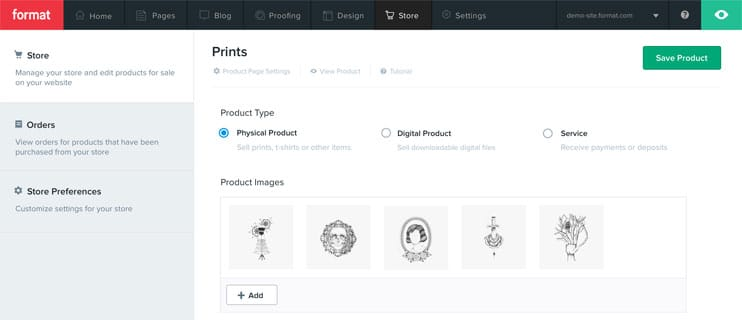 Format Store Products Page Screenshots